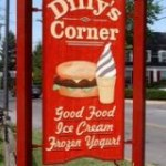 Dilly's Corner Sign Touting Summertime Treats