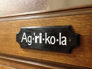 Agricola sign