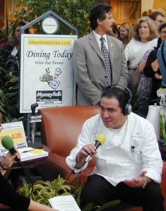 Me interviewing Emeril
