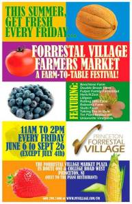Forrestal Village farmers market flyer