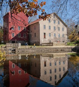 Reflections of the Past: Strolling the D&R Canal at the restored Prallsville Mills. Photo by Steve Greer, Courtesy of NJ Monthly