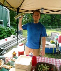Jamie Dodge, Elements mixologist, at Z Food Farm