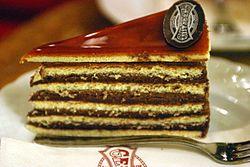 Dobos cake (Gerbeaud Confectionery, Budapest, Hungary)