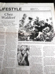 Alice Waters in the Princeton Packet