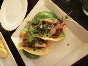 Shrimp Ceviche Taco (gluten free), Witherspoon Grill