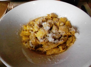 Super-rich agnolotti stuffed with sugo of 3 meats (1 of which is lamb): Cotogna, SF