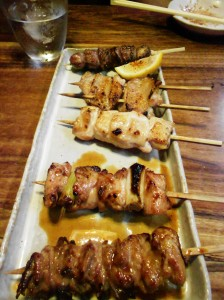 Ippuku's chicken skewers