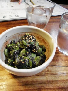 Favas with black sesame, Ippuku