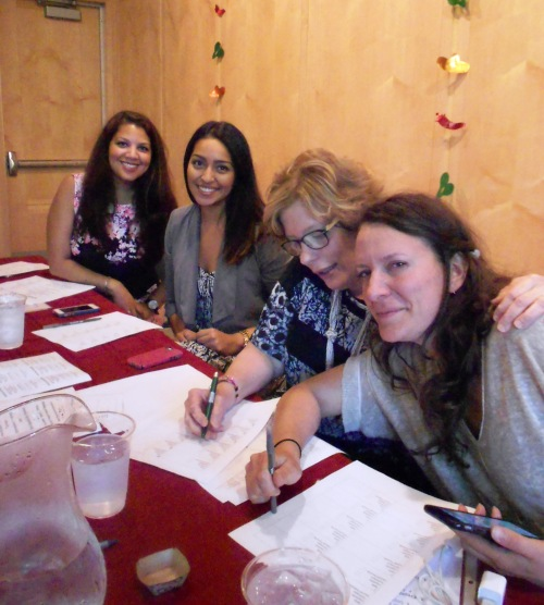 My fellow judges (l to r): Arlene Reyes, Elisa Neira, Sue Gordon, Gab Carbone