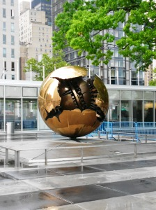 Outside the United Nations' Conference Building