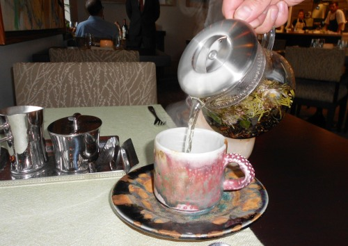 Pouring Tea at Elements Princeton