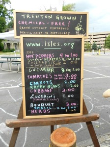 Isles Urban Farmers Sign at Greenwood Ave. Market