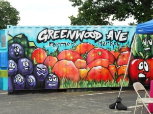 Greenwood Avenue Farmers Market Sign