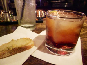 Negroni Sbagliato & Crostini with Anchovy-Chickpea Schmear, Clydz New Brunswick