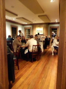 One of Brick Farm Tavern's several small, cozy dining rooms