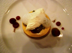 Pumpkin dessert at Brick Farm Tavern