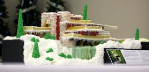 Melodie Dearden's Falling Water Gingerbread House