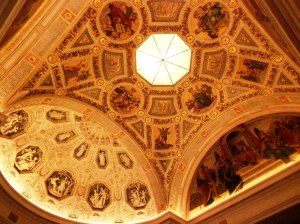 Morgan Library Ceiling. Photo by Pat Tanner