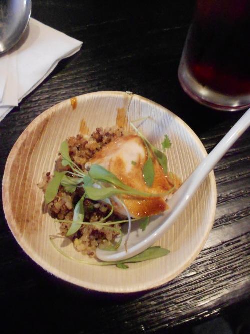 Chicken Adobo Roulade w Quinoa