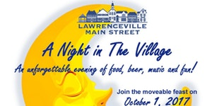 Lawrenceville night in the village